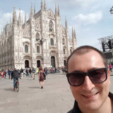 Roberto Serafinelli outside in Milan before the lockdown started.