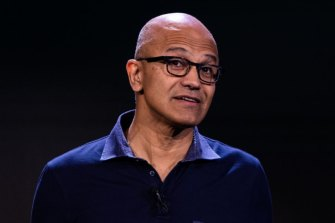 Microsoft chief executive Satya Nadella flagged the Victorian deal at the tech giant's second-quarter results.