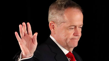 Bill Shorten concedes defeat late on Saturday night.