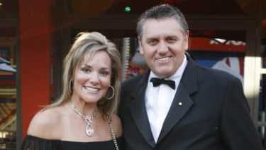Ray Hadley with his ex wife Suzanne.
