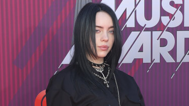 Billie Eilish at the iHeartRadio Music Awards in March this year.