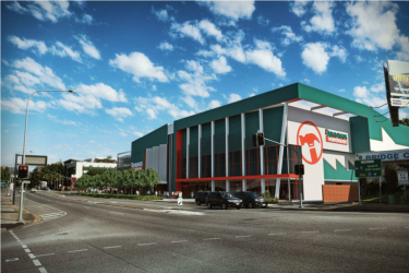 Artist impression of the Bunnings Warehouse proposed for Woolloongabba.