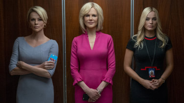 Charlize Theron, Nicole Kidman and Margot Robbie play Megyn Kelly, Gretchen Carlson and Kayla Pospisil respectively in Bombshell.