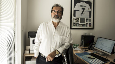 Antonio Cerqueira at the offices of his new business Daily Fresh.