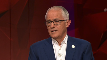 Malcolm Turnbull on Q&A.