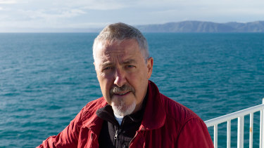 Presenter Griff Rhys Jones sets sail on the travel show Griff's Great Kiwi Road Trip, during which he visits White Island.