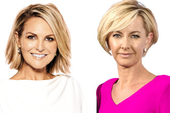 Georgie Gardner and Deb Knight.