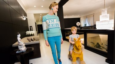 An ultra-wealthy Russian family in a Lauren Greenfield's documentary <i>Generation Wealth</i>.