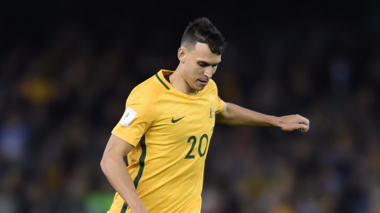 Stalwart: Sainsbury in action for the Socceroos.