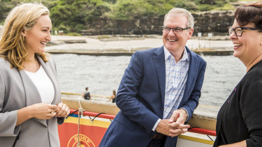 In the lead: Opposition Leader Michael Daley in Coogee with local candidate Marjorie OÃ'Â'Neill and Shadow Minister for the Environment Penelope Sharpe on Saturday.