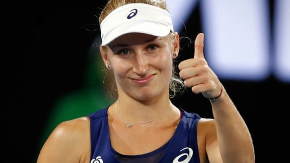 Personality player: Gavrilova has become a fan favourite with her home crowds.