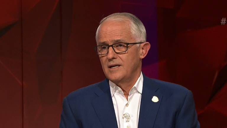 Malcolm Turnbull on Q&A.