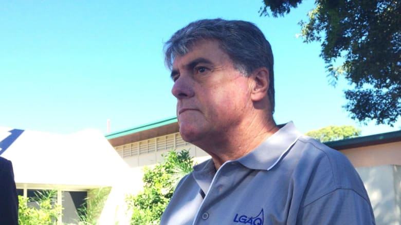 Moreton Bay mayor Allan Sutherland's home was allegedly burgled last week.