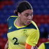 Sam Kerr's goal against Sweden late in the first half was disallowed.