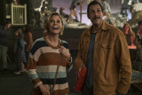 Julie Bowen and Adam Sandler (above) star in Hubie Halloween.