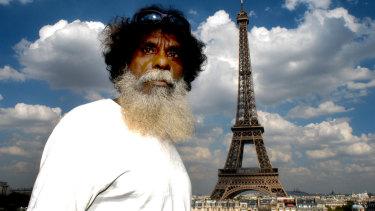 Aboriginal artist John Mawurndjul in Paris, where his work has been shown since 1989.
