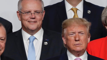 Scott Morrison has backed US President Donald Trump in taking a harder line against Iran.