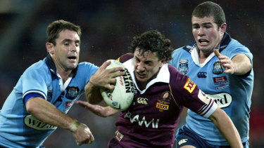 Wild or wooly? State greats and old sparring partners Brad Fittler and Billy Slater are both sceptical of the merits of a wildcard weekend.
