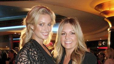 Jo Ferguson with her one-time best friend Kristy Hinze in 2010.