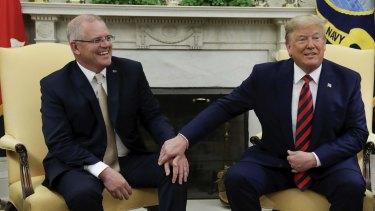 US President Donald Trump welcomed Australian Prime Minister Scott Morrison to the Oval office last September, before the pandemic.