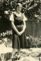 Wendy McCarthy as a schoolgirl at Forbes High.