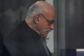Nino Napoli's cousin Carlo Squillacioti arrives at court this week.