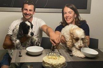 Melissa Caddick and her husband Anthony Koletti celebrate their joint birthdays on April 21, 2020.