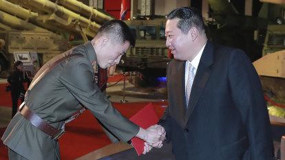 Kim Jong-un vows to build 'invincible' military while criticising US