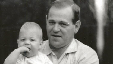 Brett Sutton with his father, Terry Sutton, pictured in 1970.
