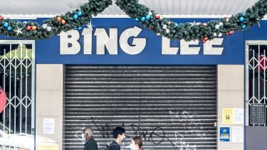 Bing Lee at Burwood, which was visited by a person with the UK strain who was no longer infectious.