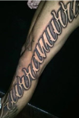 Kurramurra: Addo-Carr's leg tattoo.