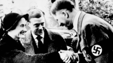 Hitler with the Duke and Duchess of Windsor.