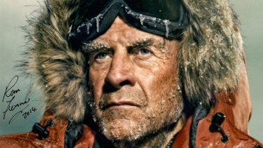 Sir Ranulph Fiennes, the Guiness Book of Records' world's greatest explorer.
