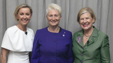 Deborah Knight, Dr Kerryn Phelps, Ann Sherry ahead of the panel discussion.