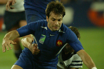 Christophe Dominici, pictured during the 2003 Rugby World Cup.
