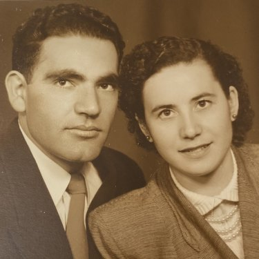 Jack with wife Magdalini.