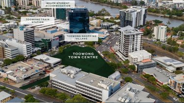 The Toowong Town Centre proposal site.
