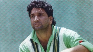 Pakistan cricket great Abdul Qadir.