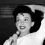 Judy Garland performing at Festival Hall during her disastrous 1964 tour.