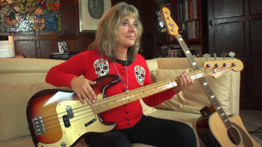 Suzi Quatro at home with her beloved bass: ''I wasn't one of the first. I was the first.''