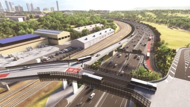 Inner City Bypass is widened from three lanes to four lanes and a new ramp is added to the Royal Brisbane and Women's Hospital to get more access to buses.