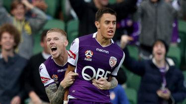 Chris Ikonomidis (right) is enjoying his stint at Perth.