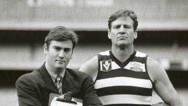 Eddie McGuire and Sam Newman at the MCG.