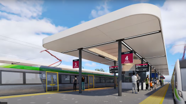 The shelters of the proposed Bayswater train station have been the source of social media jokes for their resemblance to a Bunnings trestle table.