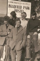 Former hostel resident Jan Wright (back row centre) with friends at Bradfield Park in either 1966 or 1967.