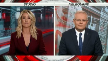 Leila McKinnon interviewed Scott Morrison on A Current Affair on January 3.