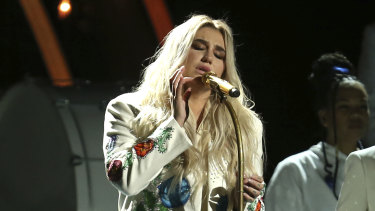 """Kesha's """"Praying"""", performed here at the Grammys, was the most blissful, transcendent moment of the Sydney show."""