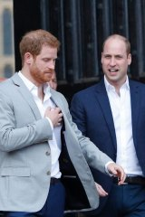 Brotherly tension? Britain's Prince Harry (left) and Prince William earlier this year.