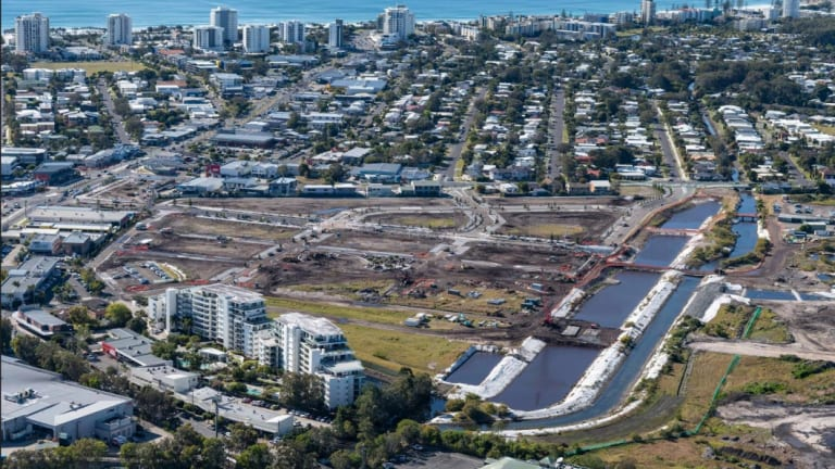 The new Maroochydore CBD begins to emerge from the ground.