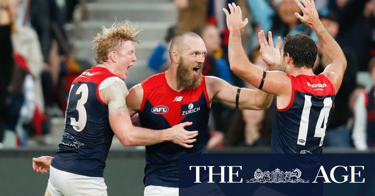 Gawn supremacy: Skipper stars as Dees blast Hawks in final term – The Age